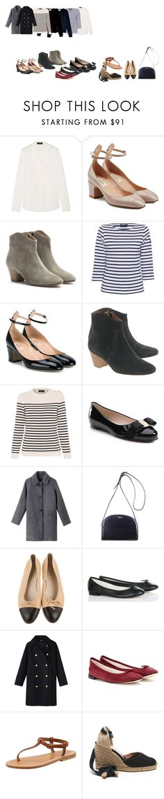 """Fashion goals"" by entonely on Polyvore featuring Theory, Valentino, Isabel Marant, Saint James, Classique, Étoile Isabel Marant, Salvatore Ferragamo, A.P.C., Repetto and K. Jacques"