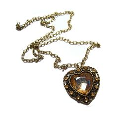 heart chain pendant necklace - The Fusion Boutique found on Polyvore featuring women's fashion, jewelry, necklaces, accessories, colares, collares, heart shaped pendant necklace, heart chain necklace, heart necklace and chain collar necklace