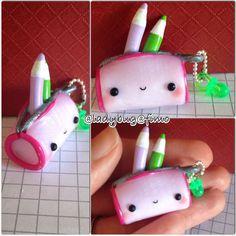 #kawaii #charms #polymer #clay #pencil #case
