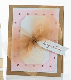 Pink & Gold Congratulations Card by @Windy Robinson