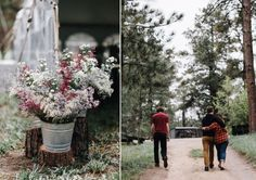 Wild flower floral display for an outdoor forest wedding | Photography by http://www.levitijerina.com/