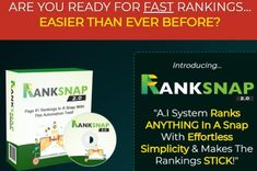RankSnap 2.0 Deluxe Review OTO by Gaurab Borah - Secret AI Software That Help You To Ranks Any Keyword On Page One Both Google & Youtube In Minutes And Offer To The Top Of The Search Engines Fast And Keeps It There Page One, Seo Professional, Software, Google Page, The Search, New Earth, Call To Action, Cloud Based, Search Engine
