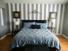 Tutorial with pictures on how to paint a striped wall!