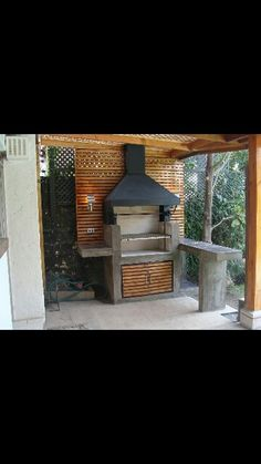 Quincho Outdoor Grill Space, Outdoor Tiki Bar, Outdoor Spaces, Outdoor Living, Outdoor Decor, Pergola, Gazebo, Bbq Area Garden, Parrilla Exterior