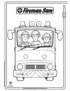 Fireman Sam Elvis Colouring In Fireman Sam Activities