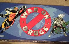 Vintage c.1989 SUPER RARE War on Drugs board game by BuyfromGroovy