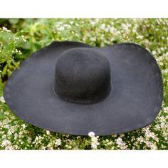 10e8d0c873f Black Heavy Wool Felt Hat Blank (Unlined) HW-913