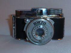Rare Vintage Japanese Mycro IIIA Subminiature Camera, by Akita Seisakusho, 1953 #rarecamera #camera #vintagecamera #retrocamera #oldcamera #cameracollection