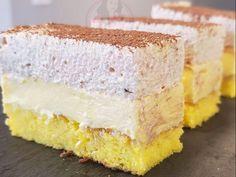 Prăjitură cu crema de vanilie si spuma de ness - Anyta Cooking Sweets Recipes, Cake Recipes, Cooking Recipes, Torte Cake, Different Cakes, Eat Cake, Vanilla Cake, Food And Drink, Baking