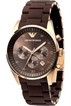 Emporio Armani Men's Ar5890 Brown Sport Chronograph Watch