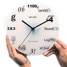Hot! para o totó, matemática Relógio ciência e engenharia Moda acrílico relógio de parede digital de circular(China (Mainland))