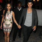 Siva from The Wanted and his girlfriend out in #London #grey