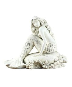 Look what I found on #zulily! Mermaid on Rock Figurine by Young's #zulilyfinds