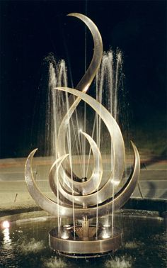 Anahata Fountain by Eric David Laxman. I would transform it to make a full treble clef in the middle :)