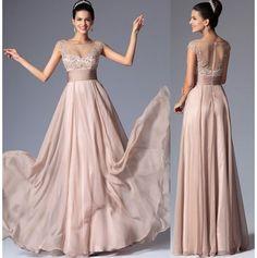 Rochii de ocazie roz pudra nude aplicatii Bridesmaid Dresses, Prom Dresses, Formal Dresses, Wedding Dresses, Made Of Honor, Outfits, Style, Fashion, Gorgeous Dress