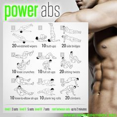 Now this abs exercise regime definitely doesn't look easy...... 'Power Abs Training - Sixpack Workout Plan'