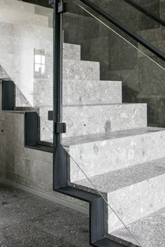 Ceppo Stone By Potier Stone Stairs Escaleras Escalera Casa Wood Floor Stairs, Metal Stair Railing, Front Stairs, Staircase Handrail, Flooring For Stairs, Concrete Stairs, House Stairs, Staircases, Detail Architecture