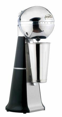 A-2001 Retro Black Drink Mixer with inox cup. #black #retro