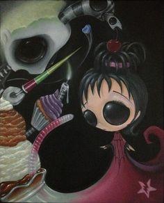 sugar fueled art | SUGAR FUELED BEETLEJUICE LYDIA SWEETS POP LOWBROW CREEPY CUTE BIG EYE ...