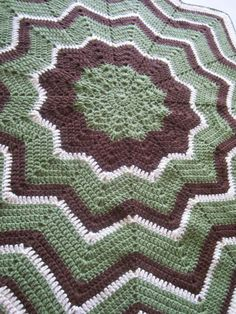 12 point round ripple baby afghan