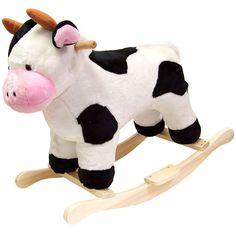 Happy Trails Plush Children's Rocking Cow
