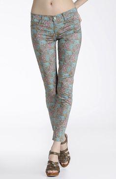 hi there pretty pretty print jeans