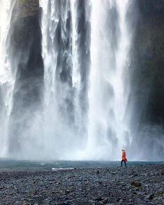 Skógafoss Waterfall, Iceland.
