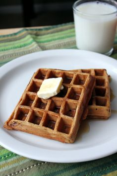 """""""Kitchen Trial and Error: gingerbread waffles of insane greatness""""  --'insane greatness' is completely accurate!  LOVE these waffles.  :)"""