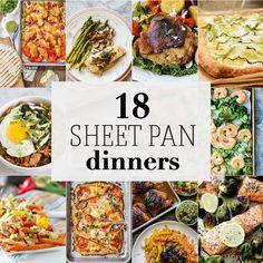 18 Sheet Pan Dinners