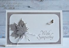 Cards made by Wybrich: With Sympathy
