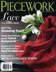 Šitá krajka: article on Reticella lace in 'Piecework' magazine, May/June 2012