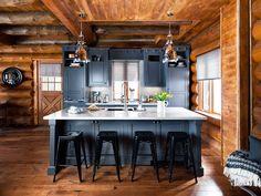 Jurnal de design interior - Amenajări interioare : Rustic și modern într-o cabană din Ontario, Canada