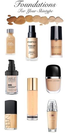 Foundations for Your Skin Type- Liquid Edition