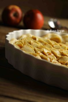 The vanilla ice cream is an essential complement to this scrumptious Apple Tart. A recipe by Maya Oryan