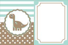 invitación. Dinosaurio bebé.