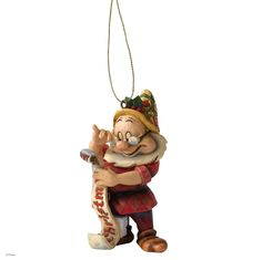 A9040 Doc Hanging Ornament- Disney Traditions combines the magic of Disney with the festive artistry of Jim Shore's Heartwood Creek #disney #festive #jimshore