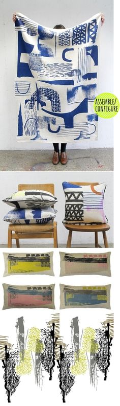 architextiles...hand prints by Laura Slater