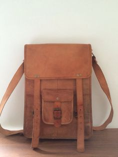 a697bca2660a3 LONG MESSENGER BAG by SCANDALO AL SOLE Leather Crossbody Bag