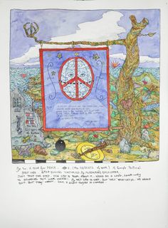 A Peace Plan | william wiley  30x22.5 watercolor and ink PUR   2010