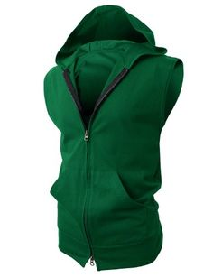Save $20.00 on H2H Men's Lightweight Sleeveless Fashion Hoodies with Henley Neck-line; only $19.99