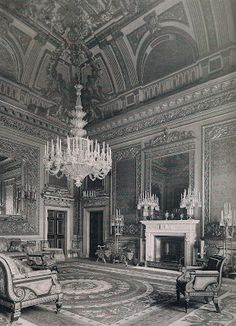 The saloon at Devonshire House, designed by William Kent in the The London residence of the Dukes of Devonshire Vintage London, Old London, Duke Of Devonshire, Chatsworth House, London House, Town And Country, Country Houses, English House, Marquise