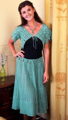 Crochet evening dress pattern.