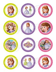 INSTANT DOWNLOAD Sofia the first 2 Inch Circles by MagicalParty
