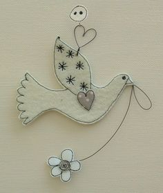 """Bird """"Dove and Flower"""" Number 1 £5.00"""