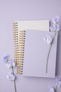 Make the perfect planner or notebook to fit your life! Lavender Aesthetic, Purple Aesthetic, Flower Background Wallpaper, Flower Backgrounds, Planner A5, Cute Spiral Notebooks, Unique Valentines Day Gifts, Cool School Supplies, Purple Wallpaper Iphone