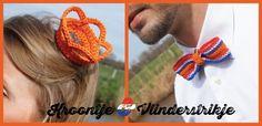 Oranje boven, voor zowel hem als haar! Dit jaar vieren we alweer voor de tweede keer Koningsdag! Kijk op CraftKitchen voor een ontzettend leuk zelfmaakidee voor een kroontje en een vlinderstrikje in rood-wit-blauw en oranje: http://www.craftkitchen.nl/blog/106/oranje-boven-voor-zowel-hem-als-haar