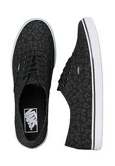 Vans Authentic Lo Pro Leopard Black Black Women's Skate Shoes