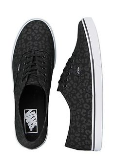 Vans Authentic Lo Pro Leopard Black Black Women's Skate Shoes