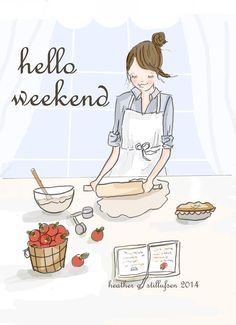 Hello Weekend!!!! Heather Stillufsen Rose Hill Designs on Facebook and Etsy.