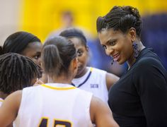 A decade in the WNBA gives UNCG women's basketball head coach Wendy Palmer a lot of wisdom to pass along. Women's Basketball, Wnba, Alma Mater, A Decade, Athletics, Wisdom, Girls Basketball
